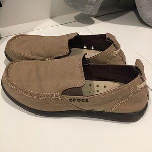 Men's size 9 Crocs slip-ons